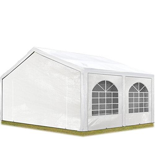 TOOLPORT Hochwertiges Partyzelt 5x5 m Pavillon Zelt 240g/m² PE Plane Gartenzelt Festzelt Wasserdicht weiß -