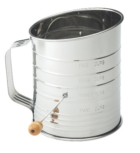 Mrs. Anderson's 5 Cup Crank Flour Sifter Baking...