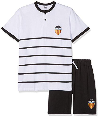 Valencia CF Pijvcf Pijama Corta, Bebé-Niños, Multicolor (Blanco/Negro), 08