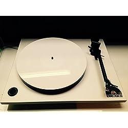 Vinyl Guru Blanco Metacrilato (Acrílico) Alfombrilla Tocadiscos