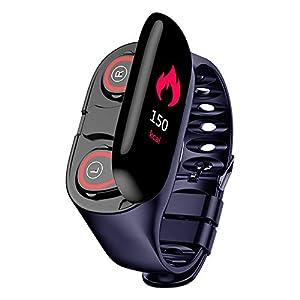 GUANLIAN 2 in 1 Smart Watch mit Bluetooth-Ohrhörer Pulsmesser Armband Fitness