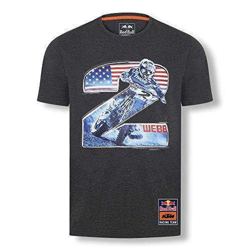 Red Bull KTM Mosaic Felpa con Cappuccio, Grigio Uomo Hoodie, KTM Factory Racing Abbigliamento & Merchandising Ufficiale