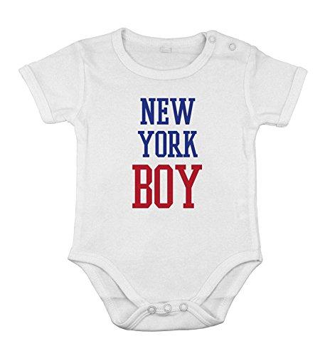 Del cotone del bambino neonato Body breve Tutina New York ragazzo regalo Stato USA unisex