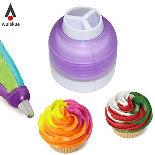 Tyro Kuchen-Kupplungswerkzeuge, 3 Farben, zum Backen, Cupcake-Kopplung, Fondant, Keksausstecher, cremefarben, Dekorationsbeutel, Kuchen-Werkzeug