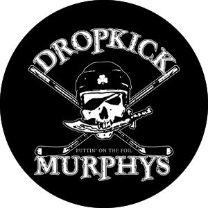 Dropkick Murphys Hockey Totenkopf Button b-0549