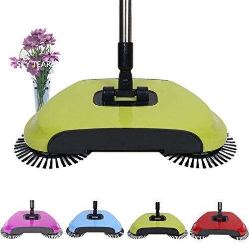 Hand Push Kehrmaschine Ohne Strom, Push Kehrmaschine Haushalt Besen Und Kehrschaufel Set Kombination Besen Für Haushalt Reinigung (Gelb)