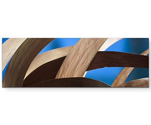 SIN-US 74 Trockene gebogene Akazienblätter - Panoramabild auf Leinwand in 120x40cm (Leinwand 120 Gebogene)