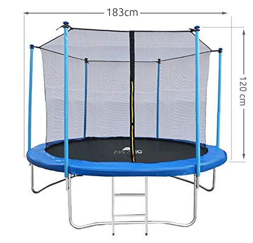 MALATEC Sicherheitsnetz für Trampoline - Fangnetz - Ersatznetz - 183 cm bis 427 cm für 6 bis 8 Stangen - Netz Innenliegend 2224, Größe:183 cm/ 6 Stangen