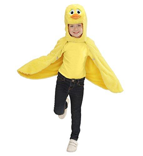 Kopf Bommel Kostüm (Widmann 97433 Kinderkostüm Ente aus Plüsch, Umhang mit Kapuze und)