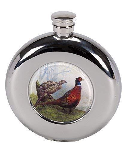 4.5oz rund Fasan Bild edelstahl-hüfte Flasche mit Trichter