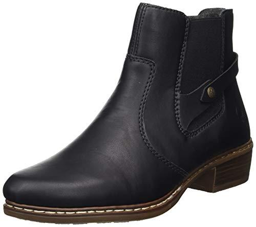 Rieker Damen Y0884 Chelsea Boots, Schwarz (schwarz/schwarz 00), 41 EU