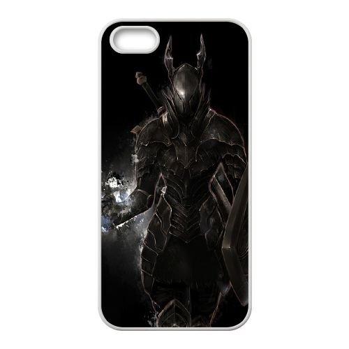 Dark Souls coque iPhone 5 5S Housse Blanc téléphone portable couverture de cas coque EBDXJKNBO15241