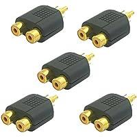 Sienoc Adattatore sdoppiatore Y RCA AV Audio 1 femmina a 2 maschio 5pz - 2 Rca Female Y Cable