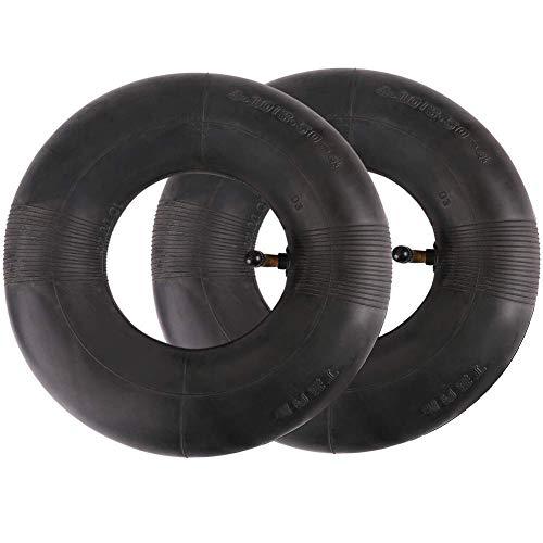 LotFancy 2x Luftschlauch für Rasenmäherreifen 4.10/3.50-4 Reifenschlauch Ventil gerade Rasentraktor