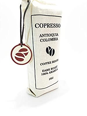 Coffee Beans 1kg Colombian Arabica - Dark Roasted - Premium by Copresso S.A.S