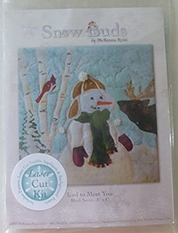 McKenna Ryan~SNOW BUDS~PreCut Laser Applique Kit w/Fabric~Iced to Meet You~BUD07 by Pine Needles