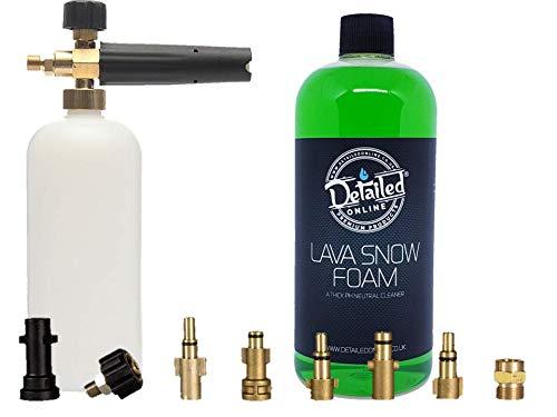 DetailedOnline Schneeschaum-Lanze + Plus 1 l Apple Lava Schneeschaum - passend für alle Hochdruckreiniger