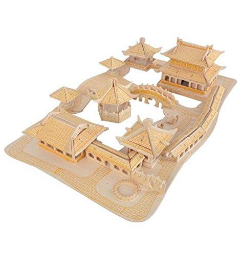 Der Suzhou Gardens Dreidimensionale Gebäude Des Manuelle Montage Holzmodell