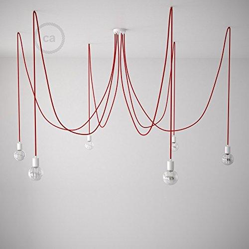 spider-sospensione-multipla-a-5-6-7-cadute-metallo-bianco-cavo-rm09-rosso-made-in-italy-kit-fai-da-t