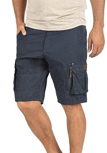 Blend Gaara Pantalón Cargo Bermudas Pantalones Cortos para Hombres De 100% algodón Regular-Fit, tamaño:L, Color:India Ink (70151)