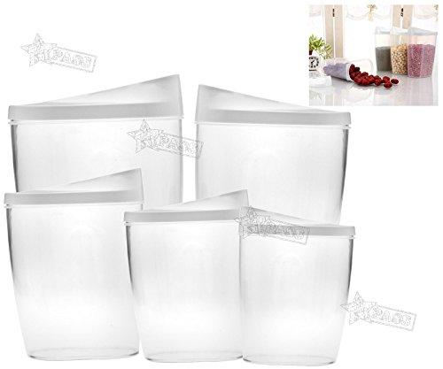 Generic.. ID Küche Deckel Küche Spenser Aufbewahrungsbox RY PA Futter Trocken Dry PA 5x Müsli Spender E Containe Nudeln Nut Container Ry Pa