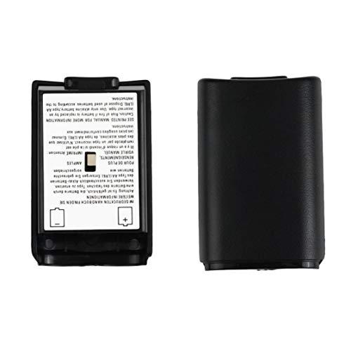 Universal-Batterie-Pack-Abdeckung Shell Shield Case Kit für Xbox 360 Wireless Controller Hochwertige Schwarze Batterie-Abdeckung Shell Kaemma (Shell Und Xbox 360-controller)
