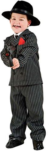 Carnevale Venizano CAV3625-4 - Kinderkostüm GANGSTER BABY - Alter: 1-6 Jahre - Größe: (Gangster Kostüme Baby)