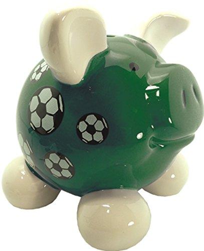 """Swiggie-Sparschwein """"Fußball"""" mittelgroß - 12x10,5x11,5cm"""