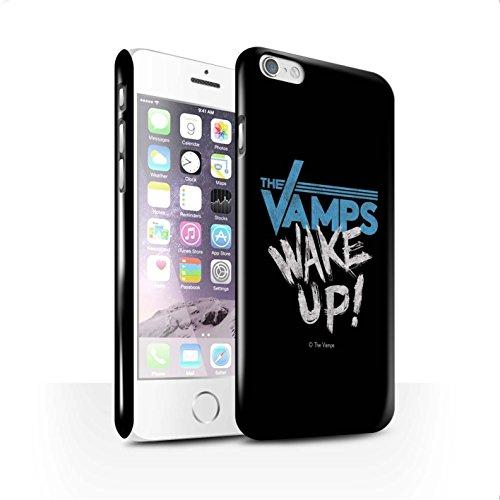 Officiel The Vamps Coque / Clipser Brillant Etui pour Apple iPhone 6S / Blanc/Noir Design / The Vamps Graffiti Logo Groupe Collection Réveillez-Vous!