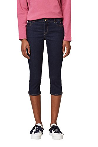 edc by ESPRIT Damen Slim Jeans 038CC1B009, Blau (Blue Rinse 900), 27