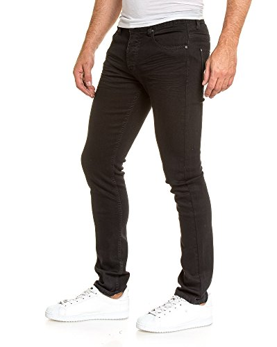 BLZ jeans - Jean homme slim noir classique Noir