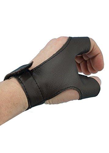 aus Leder für Rechtshänder Schwarz oder Braun Schaukampf Mittelalter S-XL (Braun, L) (Zombie Hand & Arm Handschuhe)