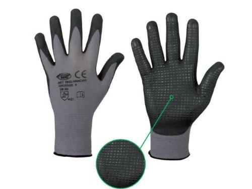 Handschuh HANDAN genoppt nahtlos EN388 flexibel griffig Arbeitshandschuh Noppen (9)