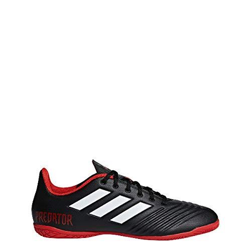adidas Predator Tango 18.4 in in, Scarpe da Calcio Uomo, Nero Cblack/Ftwwht/Red, 44 EU