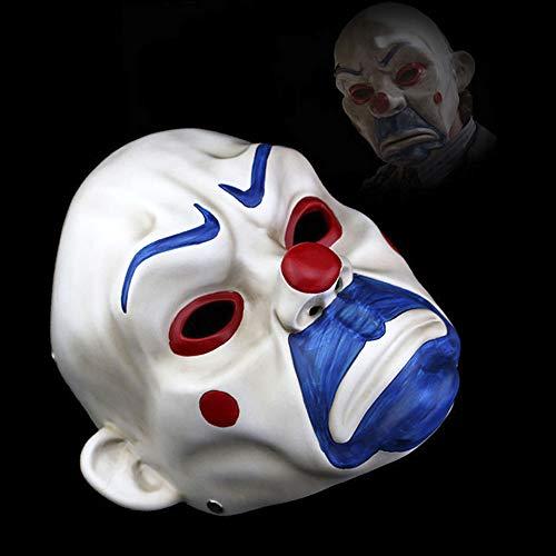 Kostüm Robber Joker Bank - WSNGD High-Grade-Harz-Joker Bank Robber Maske Adult Clown Batman Dark Knight Halloween Prop Maskerade-Partei-Kostüm-Abendkleid-Dekor