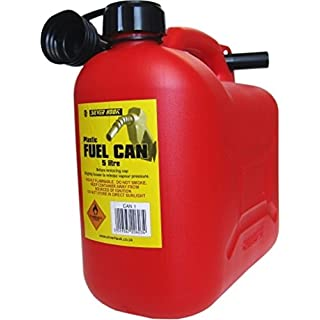 S Style Leaded Petrol Can and Spout Red 5 Litre