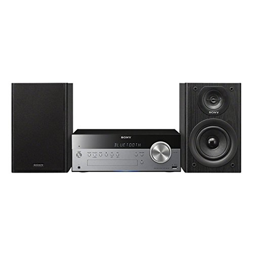 Sony CMT-SBT100 - Microcadena de 50 W (CD, FM/AM, Bluetooth, NFC, USB, estéreo), color negro y plateado