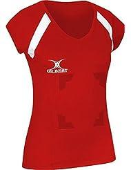 Gilbert Helix II Femme Netball Sport Vêtement équipe Décolleté Col V Chemise Crochet/Loop Haut