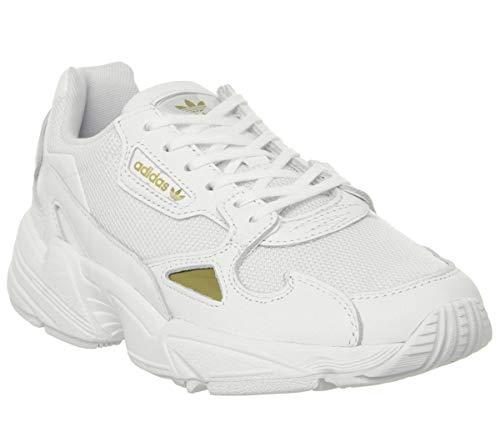 adidas Falcon W, Zapatillas para Mujer, FTWR WhiteGold Met. Ee8838, 39 13 EU