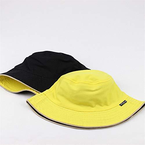 FearL Mode Baumwolle einfarbig schwarz und weiß Eimer Hut Fischer Hut Outdoor Reise Hut Sonne Kappe Freizeit männer und Frauen Hut,rot