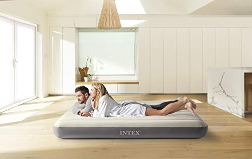 Intex - Colchón hinchable Dura-Beam Standard DELUXE Single-High - 152 x 203 x 25 cm (64103), 152 x 203 cm, inflable, pvc (93%), abs (1%), polyester (4%), rayon (2%)