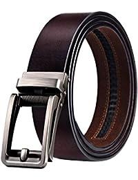 c12d812973fe WinCret Ceinture Homme ceinture automatique en cuir véritable ceinture à  cliquet avec boucle automatique intelligente 3.5cm ceinture homme en…