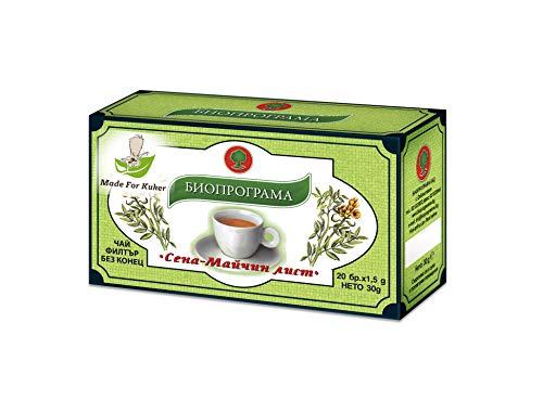 Senna Tea 30g Natural Laxative | Bioprogramme for Kuker Detox Tea 20 Tea Bags | Natural Dietary Colon Cleanse | Weight Loss Aid | Caffeine Free | Bagged Tea