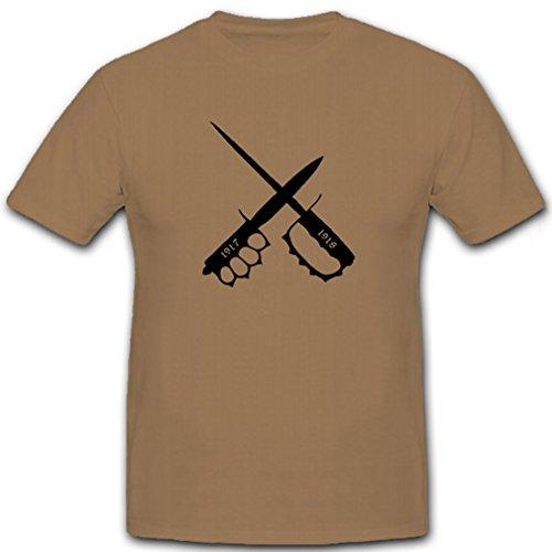 Amerikanische Grabendolche 1917 1918 Wk- T Shirt Herren khaki #6852, Farbe:Sand, Größe:Herren XXL