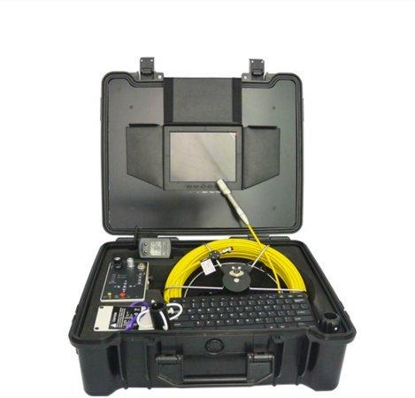 mabelstar 50m Glasfaser Schubstange Kabel Ablauf Sewer Vent Rohr Inspektionskamera System mit Meter Zähler und Tastatur -