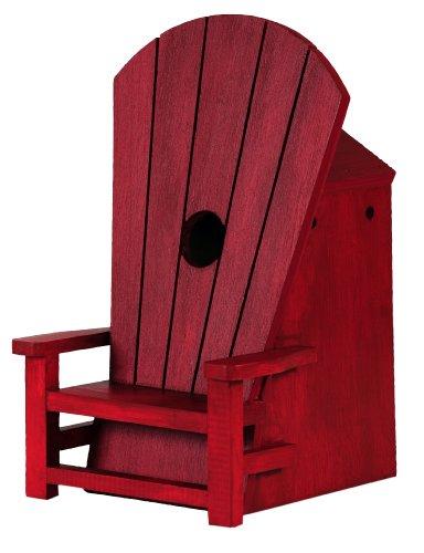 Außen in Adirondack Stuhl Vogelhaus, rot