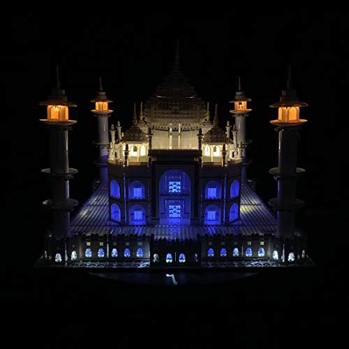 Morginy LED Licht-Set für Baustein Spielzeug LED-Beleuchtungsset Licht-Set DIY Leuchtende Bausteine Zubehör für Lego Taj Mahal 10256 (Modell Nicht Enthalten)