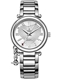 Vivienne Westwood Women's Orb Quartz Watch with Silver Dial Analogue Display and Stainless Steel Bracelet VV006SL