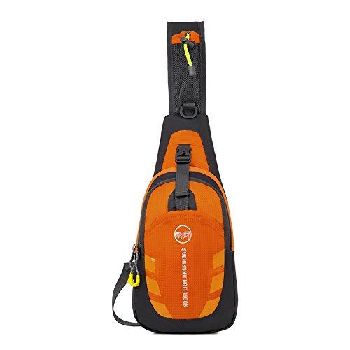 Schultertasche DeerRanTec Umhängetasche Brusttasche Reisezubehör (Orange) (Windel-schultertasche)