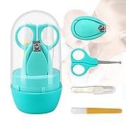 Suntapower Babypflege Set mit Baby Nagelschere, Baby Nagelknipser, Glasnagelfeile und Nasenpinzette - in Sicherheitsbox (Nagelschere)